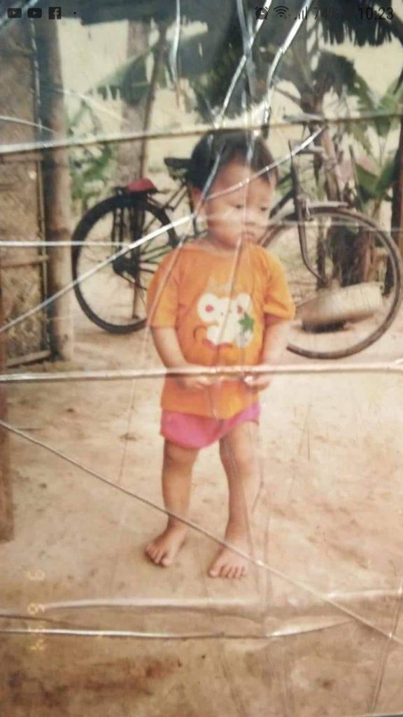 Anh Nguyễn Vũ Hoàng lúc nhỏ