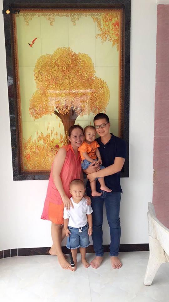 Gia đình của chị Huỳnh Thị Bích Ngân