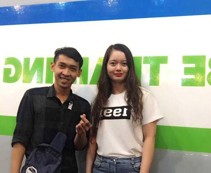 Chị Hoàng Thị Thanh Ngân và Nguyễn Tôn Quốc Tín