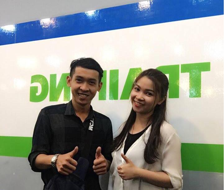 Chị Hà Mai Quỳnh Anh và Nguyễn Tôn Quốc Tín