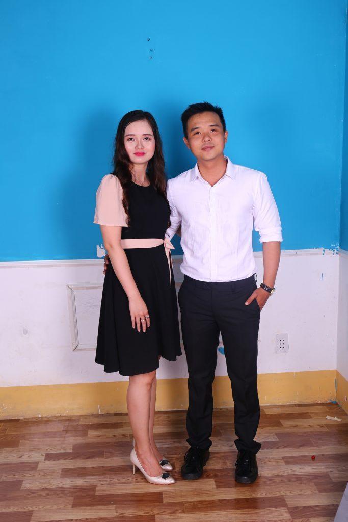 Chị Hoàng Thị Thanh Ngân và em trai