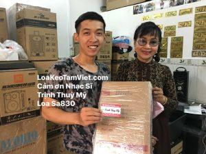 Nguyễn Tôn Quốc Tín và nhạc sĩ Trịnh Thuỳ Mỹ