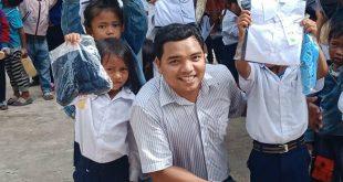 Anh Đổng Duy Công trong chương trình thiện nguyện tại Ninh Thuận