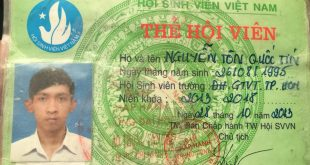 Thẻ Hội Sinh Viên của Nguyễn Tôn Quốc Tín