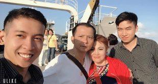 Nguyễn Tôn Quốc Tín cùng MC Lê Đức, Ca sĩ thập niên 70 GIALYN và Nguyễn Văn Thuận.