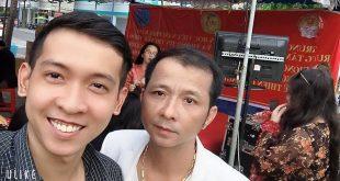 Nguyễn Tôn Quốc Tín và MC Lê Đức (ông bầu Ca Sỹ)
