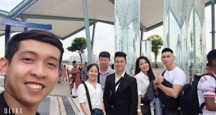 Nguyễn Tôn Quốc Tín cùng doanh nhân Be Training tại Singapore